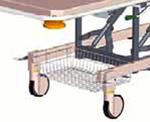Решетчатая корзина для принадлежностей, под спинной секцией 582